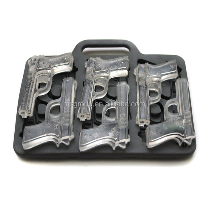 Silicon ice cube tray container Popsicle Candy bar mould personalized ice cube tray,hand gun personalized ice cube tray