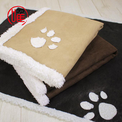 Speedypet Soft and Warm Pet Dog Blanket with Paw Prints Dog fleece mat