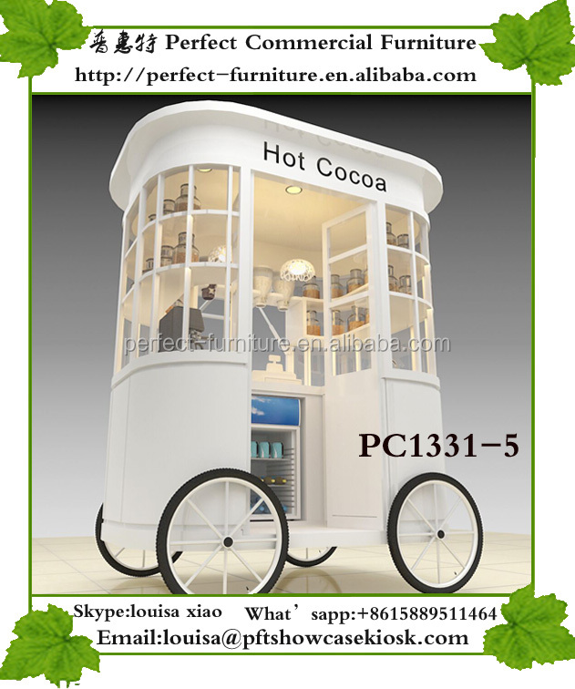Vending 1.9*1.3* 2.2m food kiosk crepe station pancake booth snack ice cream bike coffee cart with wheels for sale