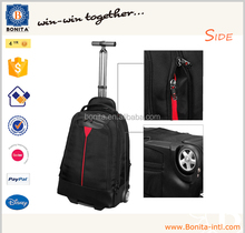 2015 Wholesale laptop trolley bag wheeled school trolley backpack for teenager