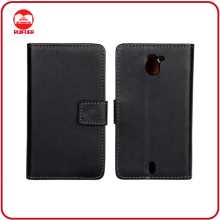 Manufacturer Luxury Black With Card Slots Stand Flip Leather Case for Sony Xperia Sola Mt27i