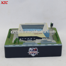Polyresin Building Hand Paiting Stadium Model