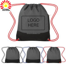 factory custom polyester beach drawstring backpack rope pull receive bag waterproof drawstring bag