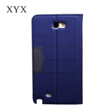 For xiaomi redmi note 2 prime, folio case pu leather cover for samsung galaxy note 2 cell phone