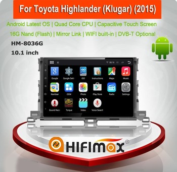 Hifimax Android 5.1.1 double din touch screen autoradio FOR Toyota Highlander car audio system multimedia player