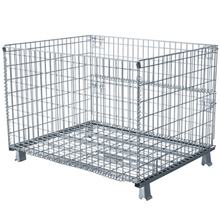 Hot sale Zinc plating Folding Wire Storage Cage