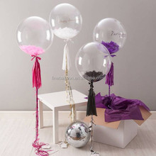 36 inch giant PVC transparent helium wedding party balloons