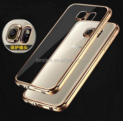Plated TPU case for samsung galaxy s6 edge case, lighter cigarette case for samsung galaxy s6 edge, for case samsung galaxy s6