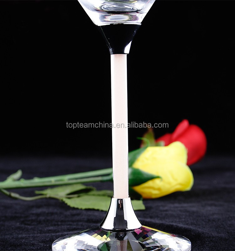 High quality China Factory Clear Champagne Flute Glass Wine Glass for Wedding