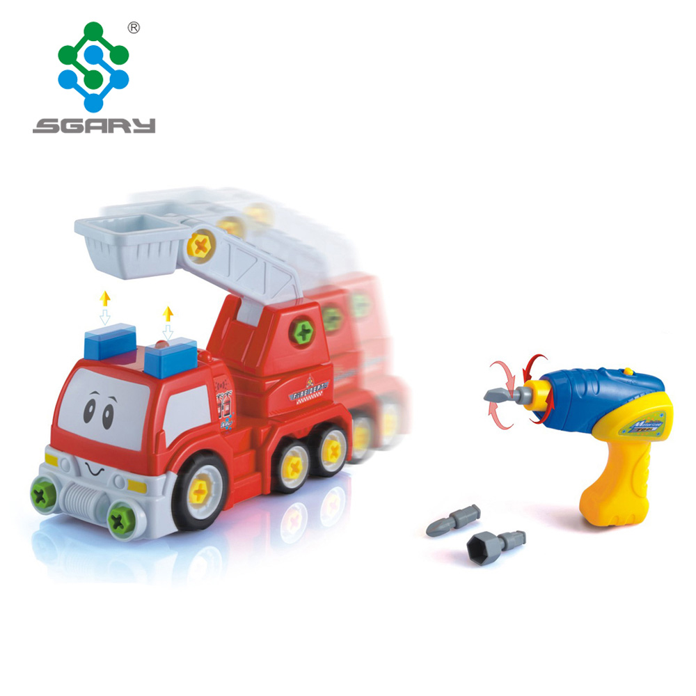 Creative DIY Battery Operated Cartoon Fire Engine Truck