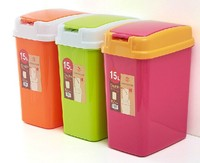 Hot sale durable beautiful household colorful bathroom waste bin