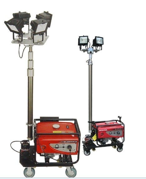 Portable Generator with Flood Lighting