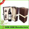 Leather Wine Carrier/Custom leather wine box for alibaba express italy
