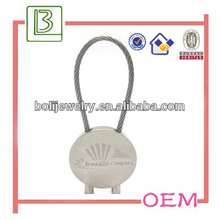 Promotional steel wire rope keychain from Supplier