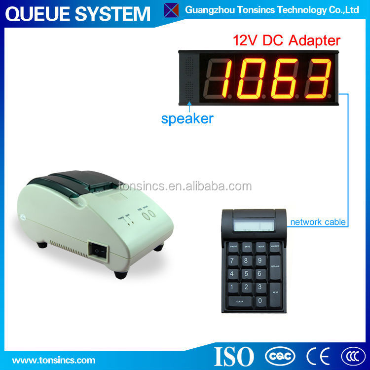 Retail/Clinic Single Row Button Token A Number System