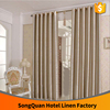 Latest curtain designs hotel blackout 100% polyester fabric for curtain