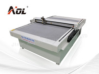 AOL-1625 CNC Car floor mat cutting machine/High frequency vibrating knife cutting