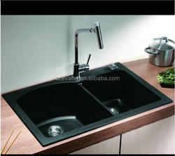 High quality single bowl kitchen room undermount wash sinks, artificial quartz kitchen sink