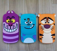 Cute silicone case cover for Samsung Galaxy S3 mini Sulley/tiger/cat design