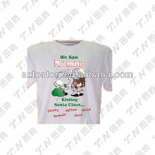 Top quality custom OEM Christmas t-shirt