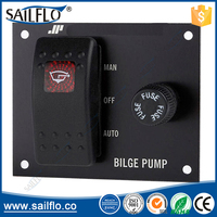 12/24V Bilge Pump three-Way Rocker Panel Switch/ bilge pump control switch