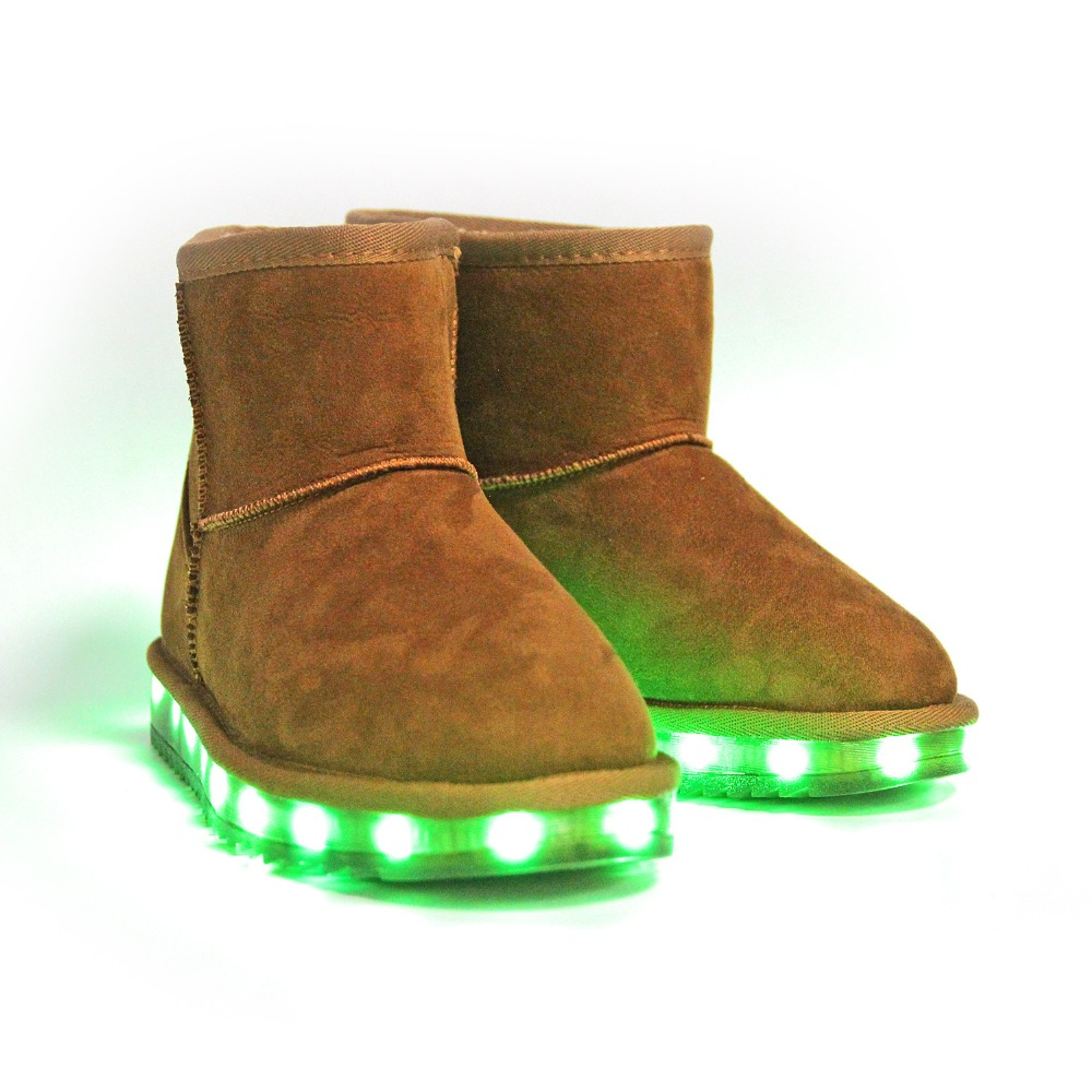 LED Shoes For Kids Women Boots Women Kids Flashing Light Up Boots