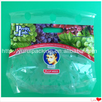 High Quality Zip Lock Plastic Grapes Bag Food Packaging Fruit Mesh Bag