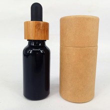 black matte e liquid perfume glass bottle 30ml essential oil ejuice glass dropper bottle with paper tube