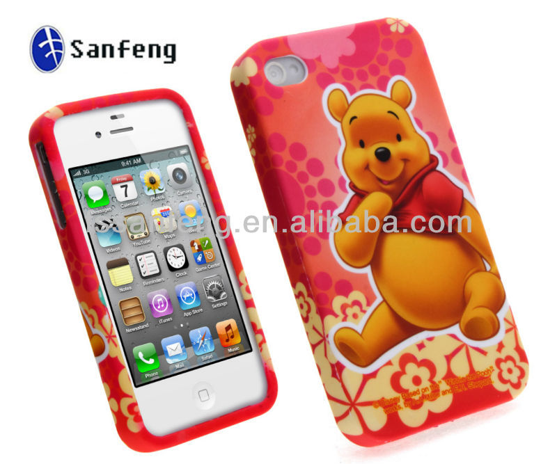 New product 2013 Best seller animal cell case for iphone 4 cheap factory wholesaler price