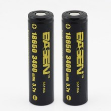 original basen ncr 18650 BS186A 3400mAh test full capacity with most safest battery cell