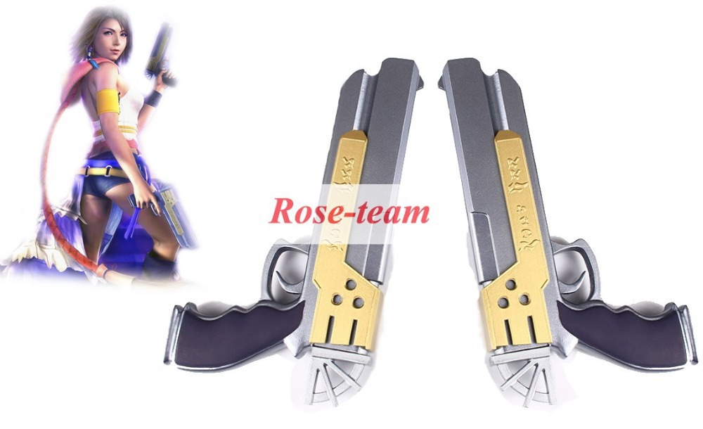 Rose-team Fantasia Anime Cosplay Made Final FantasyX-2 Yuna Couple Guns Cosplay Weapons