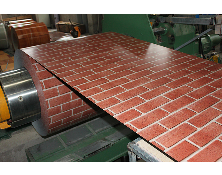 Red/Green brick corrugated ppgi roofing sheets
