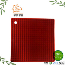 HIMI Durable suqare shape silicone mat heat press / honeycomb cup placemats silicone coffee hot pot mat FDA / lfgb approved
