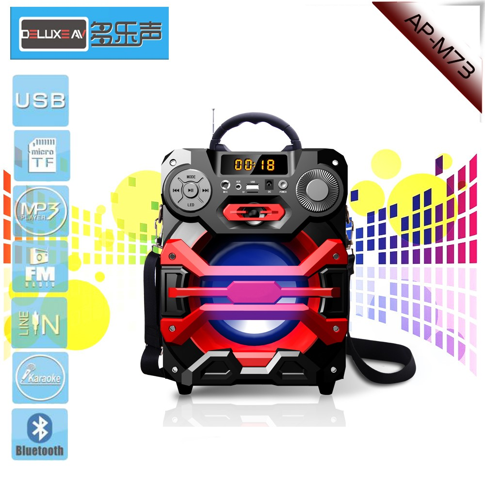 DJ Bass Portable Bluetooth karaoke Speaker,Remote Control,Bluetooth version