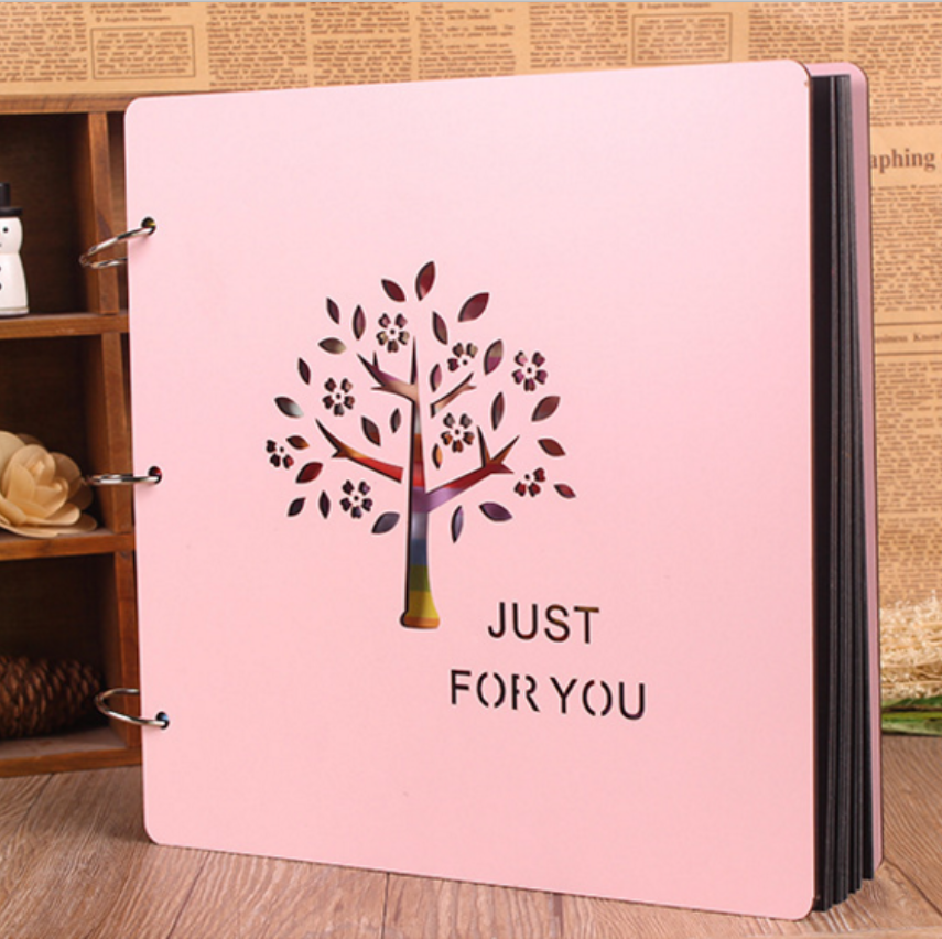 Hot sale wooden cover diy paper photo album