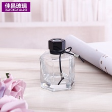 Custom Water Glass Matte Black Home Room Reed Luxury Diffuser Aromatherapy Bottle <strong>100</strong> ml