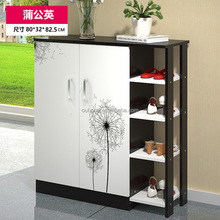 New Design Cheap Large indoor Solid Wooden Shoe Storage Cabinet 80*32*82.5cm