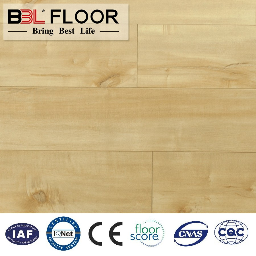 12mm Medium American Oak High Gloss Wood Hdf Laminate Flooring WL08