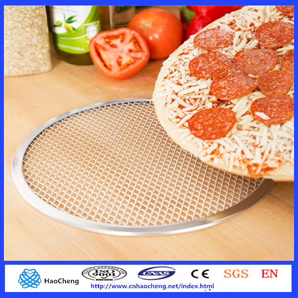 Durable Aluminum Pizza Screen, Chrome Plated Steel Mesh, 6 to 18 Inches Diameter