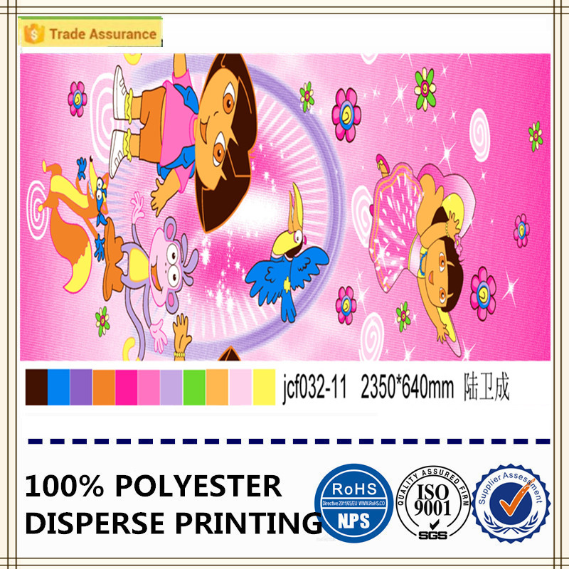 famous Dora cartoon printed fabric 100% polyester soft fabric
