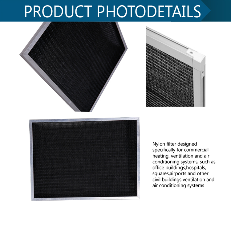 China manufacturer ventilation system pre central air conditioner nylon filter mesh