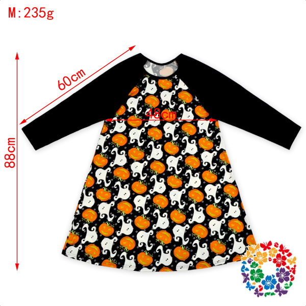 kids boutique clothing black raglan long sleeve girl dress