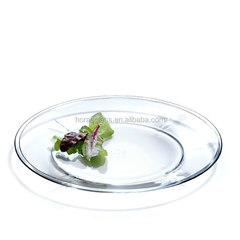 Promotional Wholesale Clear Glass Plate Glass Plate For Dinner Buy Dinner P