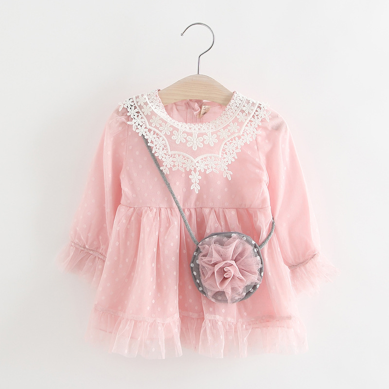 2017 Summer Lace Vest Girls Dress Baby Girl Princess Dress 1-4Years Chlidren Clothes Kids Party Clothing For Girls