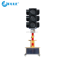 Pule traffic light with counter solar light central control traffic light