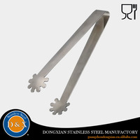 Kitchenware stainless Steel Food Bread ice tong