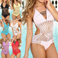 hot fashion Sublimated Sexy girls ladies women's Factory production and sales of handmade crochet swimsuit bikini Swimwear