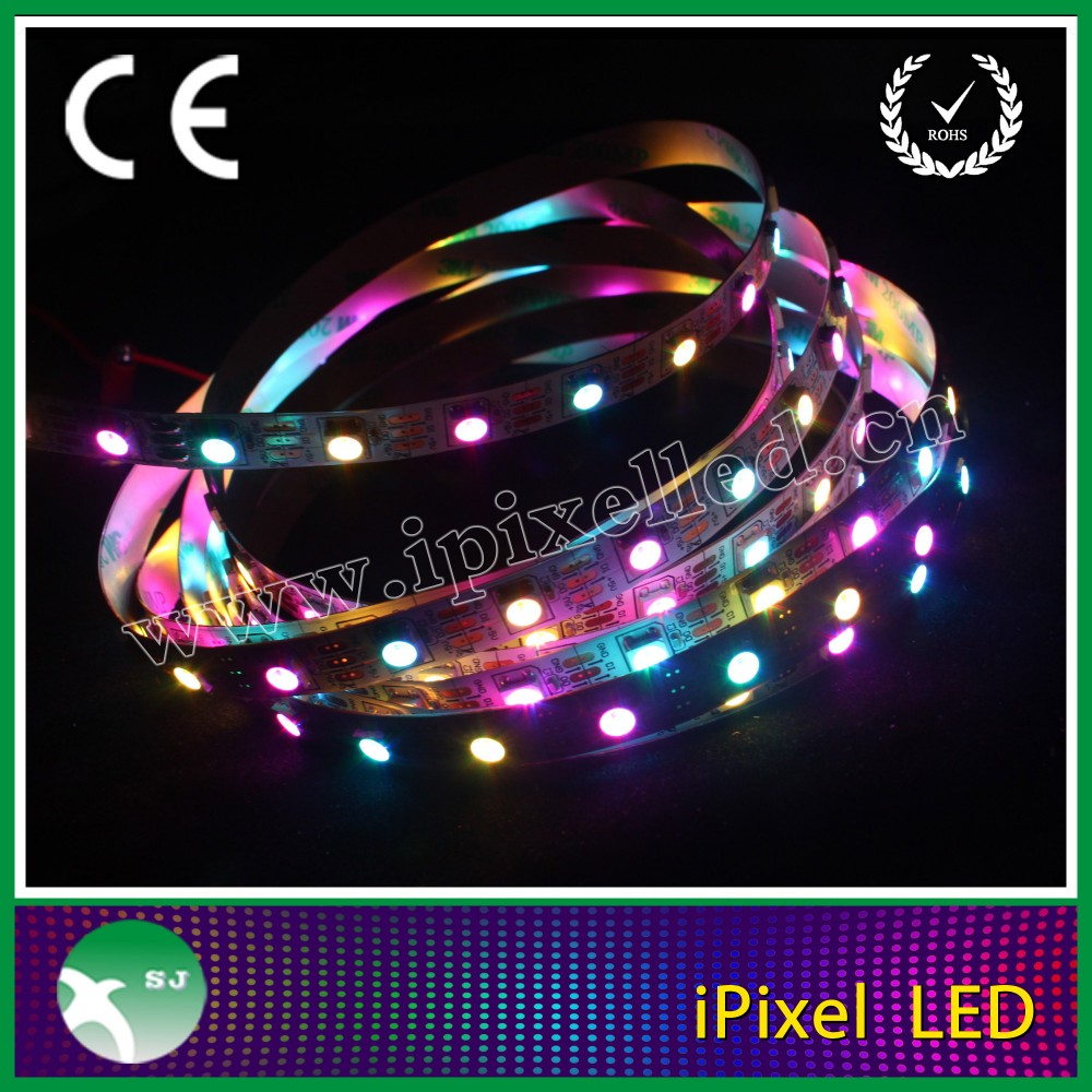 High quality high brightness waterproof and dustproof addressable led strip DC 5V ws 2801 IC