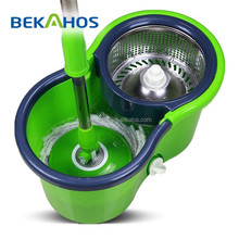 Bekahos hot sale robot vacuum cleaner spin mop with 8 shape bucket