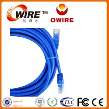 flat utp cat 5 lan cable/flat cat5 patch cord/patch leads OWIRE